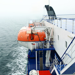 Ferry sails in Baltic sea.