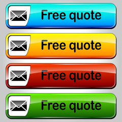 Vector free quote buttons