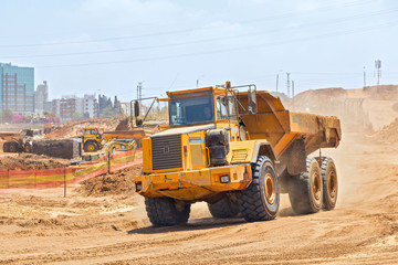 Laying of new high-speed roads in Israel.