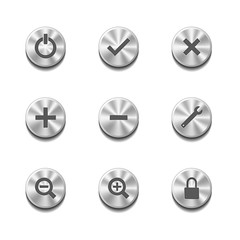 Metal button set