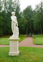 Ancient statue in the park in Gatchina