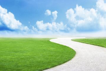 Way heaven grass success path future best choice backbround