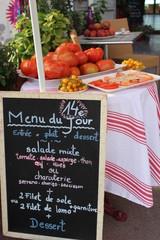 Pays basque, France - menu du jour