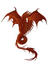 dragon, fire dragon, flames