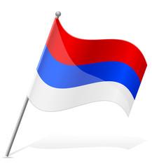 flag of Serbia vector illustration