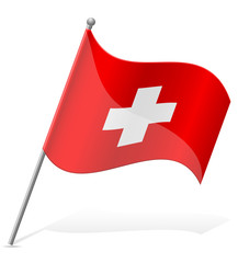 flag of Switzerland vector illustration