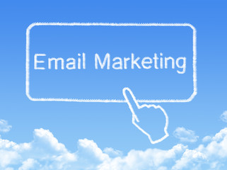 Email Marketing message cloud shape