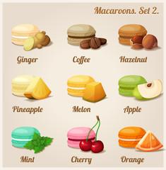 Macaroons. Set 2.