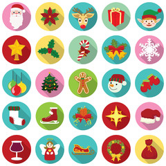Vector Christmas icon collection. Illustration eps10