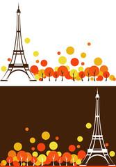 autumn Paris background