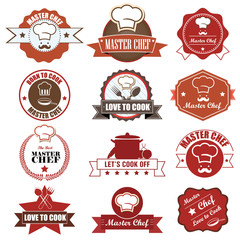 Master Chef Badge and label icon. Vector Illustration eps10
