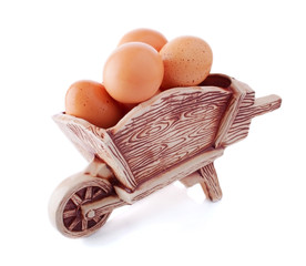 Ceramic cart Load with Eggs