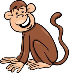 funny monkey cartoon illustration