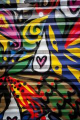 Graffiti couleurs vives
