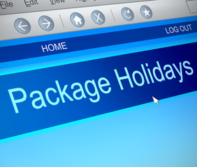Package holiday concept.