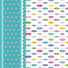 ellipses and polka dot greeting card