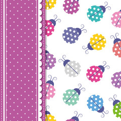 ladybugs and polka dot greeting card