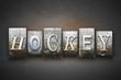 Hockey Letterpress