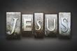 Leinwanddruck Bild - Jesus Letterpress