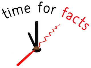 time for facts with clock concept