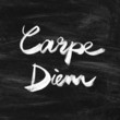 Carpe diem. Handwritten quote. Inspiring poster - 69937854