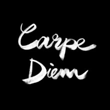 Carpe Diem. Citation manuscrite
