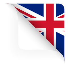 Papier - Ecke oben gerundet - Länderflagge UK