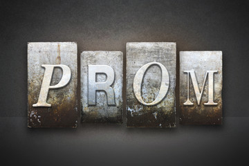 Prom Theme Letterpress