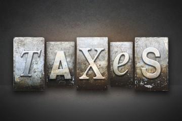 Taxes Theme Letterpress