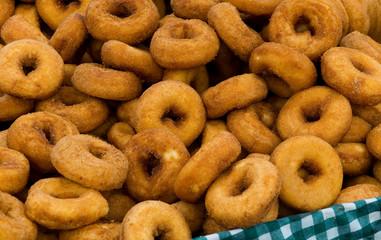 Fresh homemade doughnuts.