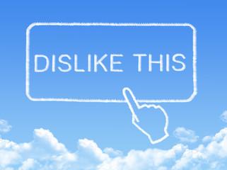 Dislike this message cloud shape