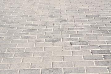 Brick stone street road.