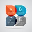 Modern business banner options infographics. Vector illustration