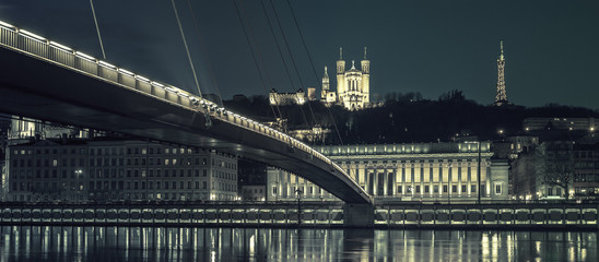 Lyon by night, special photographic processing