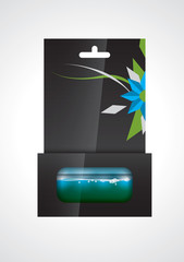 Air freshener in glass container in a box