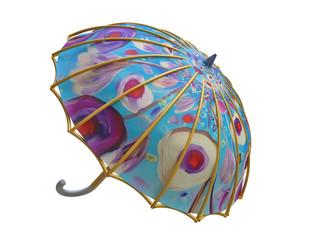 3D Umbrella with Floral Ornament