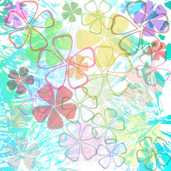 Abstract beautiful flowers wallpaper.vector