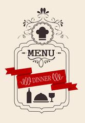 Dinner Vintage Calligraphic