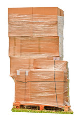 Stack of boxes on a pallet