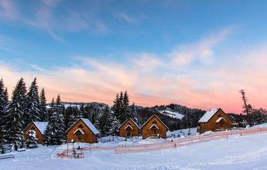 Carpathian Mountains winter sunrise