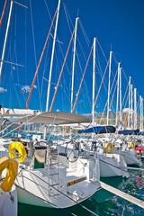 Yacht , Sailboat in Nydri in Greece.