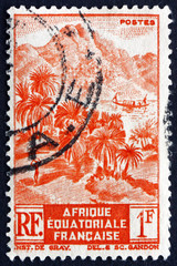 French Equatorial Africa 1946 Mountainous Shore Line