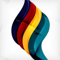 Futuristic braid looking wave background