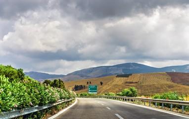 Highway in Sicily.