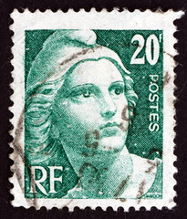 Postage stamp France 1946 Marianne, the Allegory