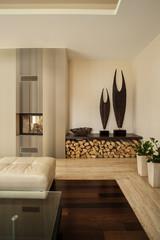 Wooden floor in living room