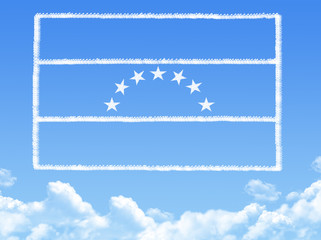 Venezuela  flag cloud shape