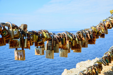 padlocks of love Makarska