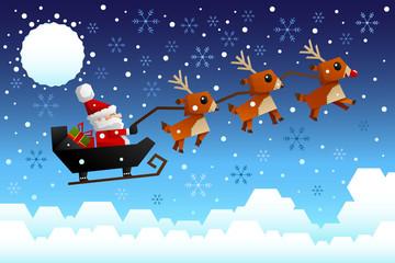 Santa Claus riding the sleigh