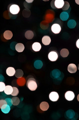 defocused lights background, bokeh